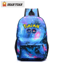 Pokemon Printing Backpack Anime Luminous School Bag for Teenagers Girls Boys Cartoon Travel Bags Nylon Mochila Galaxia