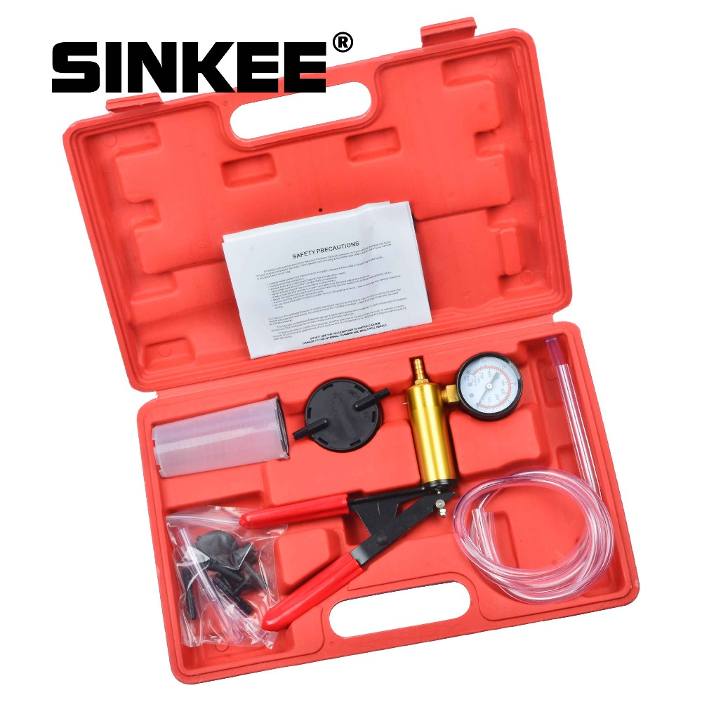Hand Held Brake Bleeder Tester Set Bleed Kit Vacuum Pump Car Motorbike Bleeding SK1269