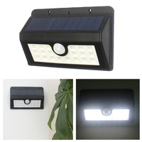 The New 20 X LED Solar Wall Lamp Solar Street Lamp U Human Body Induction Type