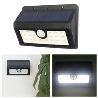 The New 20 X LED Solar Wall Lamp Solar Street Lamp U Human Body Induction Type