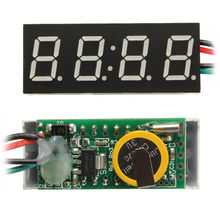 3 in 1 Car Digital LED Clock Watch Monitor Car Truck Motor Motorcycle 24 Hour Time DC 7-30V(China)