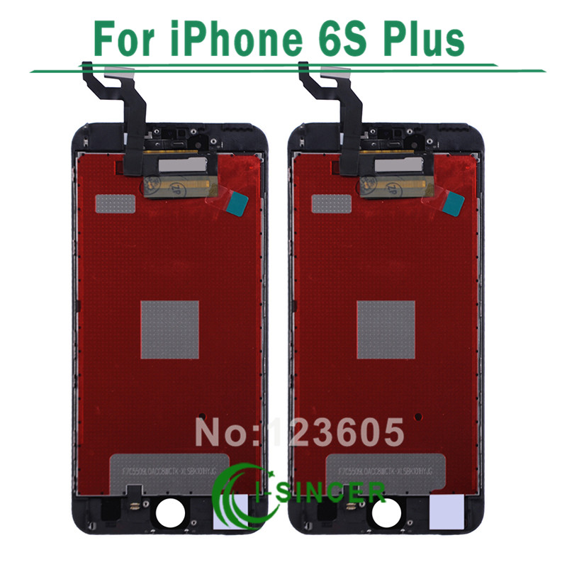ФОТО 5PCS/LOT No Dead Pixel For iPhone 6S Plus LCD Screen With Touch Digitizer Display Assembly Replacement Free DHL