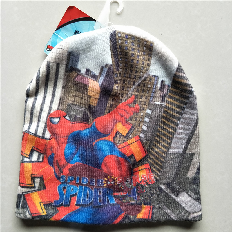 ff607b10d77 Cartoon Animals Super Hero Spider man Hat Knitting Cotton Wool ...