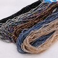 Mix color glass beads string 2mm/3mm beads chain electroplated beads jewelry finding for DIY jewelry 961