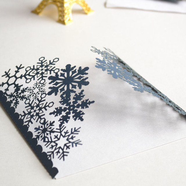 Winter Laser Cut Snowflake Free Customize Invitation Card For