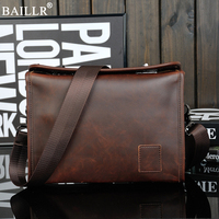 2018 New Casual Vintage Designer Handbags Men's PU Leather Messenger Bag Men Travel School Bags Leisure Shoulder Bags Wholesale