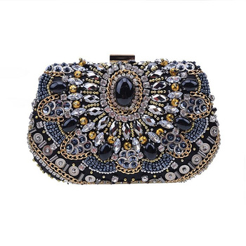 Luxury Women Crystal Evening Bags Fashion Metal Women Clutches Bags Bridal Wedding Diamond Beaded Bags For Ladies Bolsos Mujer Evening Bags