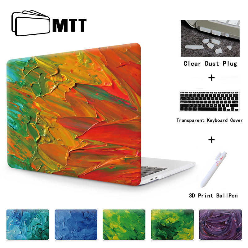 MTT Print Watercolor Dyes New 2016 Pro 13 15 Case Touch Bar For Macbook Air 11 12 13 laptop bag For Mac book Pro 13 Retina 13 15