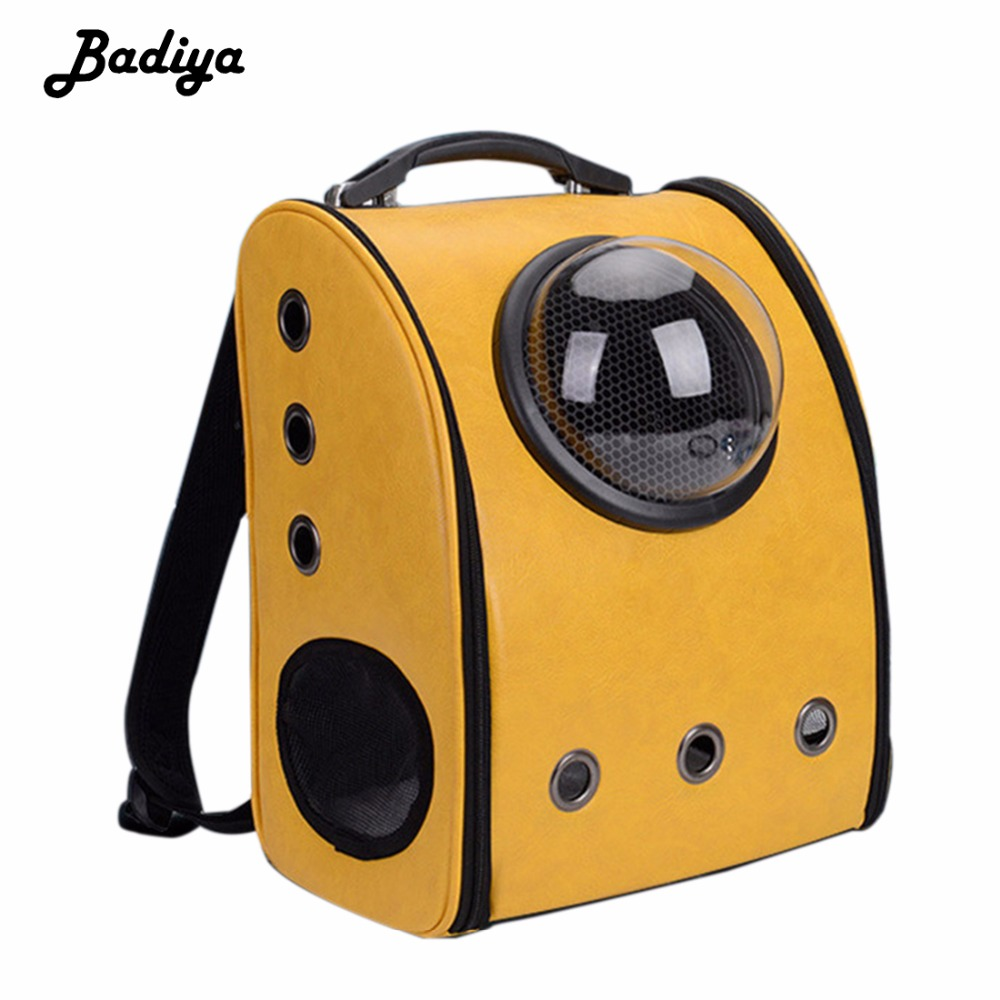 Fashion New Pet Bags Space Bag Hot Sale Capsule Shaped Pet Carrier Breathable Backpack for Dog Cat outside Travel Portable Bag pet carrier bag for cat dog medium size brown