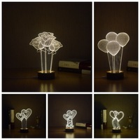 3D Desk Lamp LED Night Light Acrylic BULBING Optical Illusion Abajur Table Lumineuse Baby Nightlight Veilleuse Lampe Enfant Gift