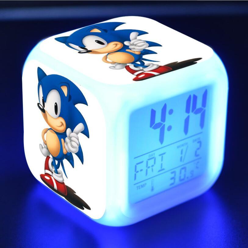 Sonic The Hedgehog LED Cube Alarm Clock 16