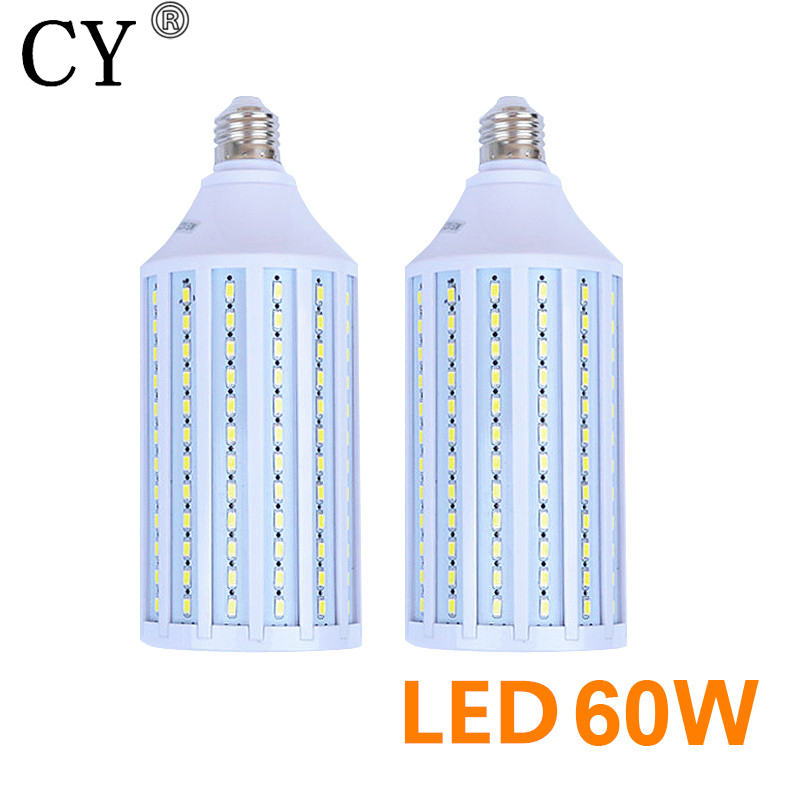 New 2pcs 60W E27 220v Photo Studio Bulb 5730 SMD LED Video Light Corn Lamp Bulb & Tubes Photographic Lighting