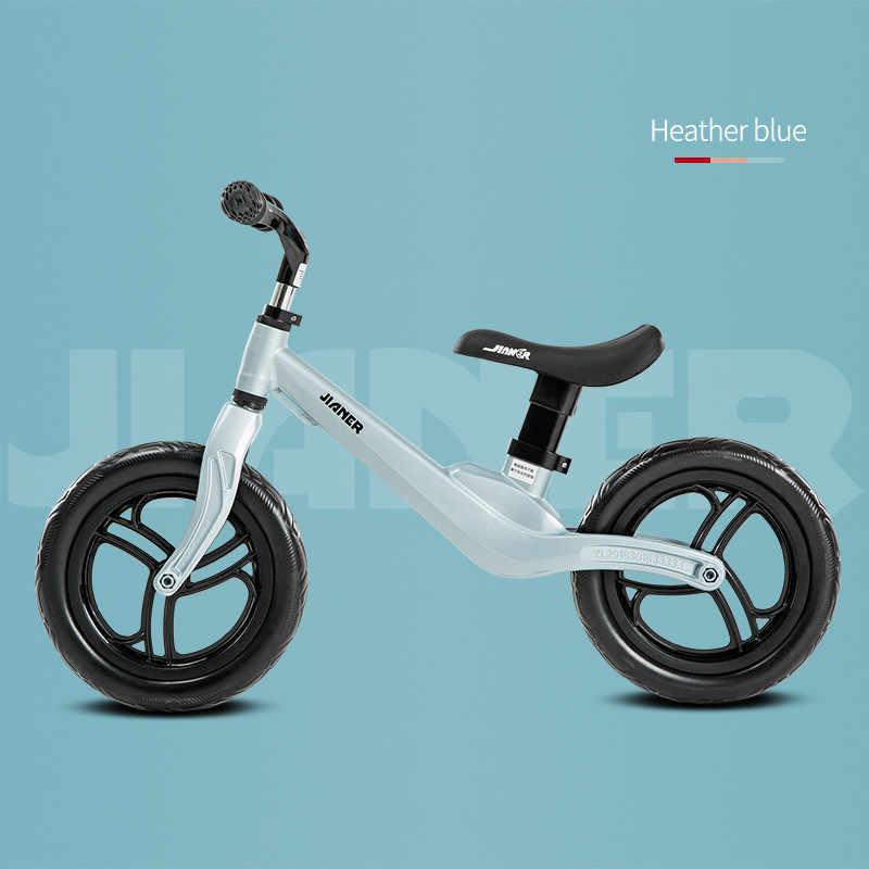 """12 """"Push Balance велосипед Сверхлегкий детский велосипед для езды на 1-4 года детские ходунки, самокат без педали учатся кататься на велосипеде, шина EVA"""