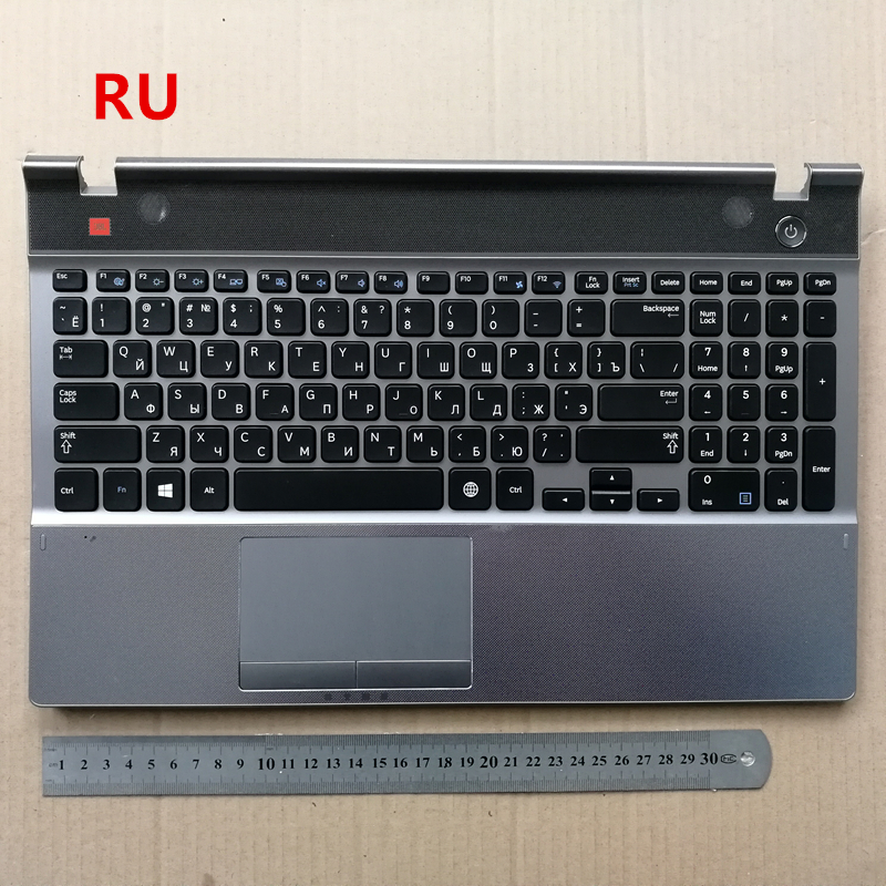 Russian layout new laptop keyboard with touchpad palmrest FOR SAMSUNG Series 5 550P5C NP550P5C us new laptop keyboard for samsung rv509 rv511 rv515 rv520 e3511 black with speaker and touchpad low price english layout