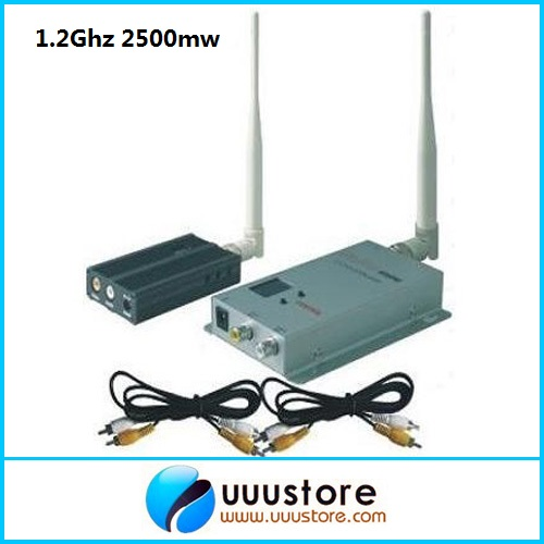 1.2G 8CHS FPV long range 3000 meters Wireless A/V Audio Video transmitter and receiver system(FOX-2500) wireless audio video system 5 8ghz fpv 600mw transmitter 48ch receiver 800x480 monitor 800tvl camera remote control toys