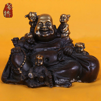 Bronze Sculpture Laughing Buddha Crafts Bronze Maitreya Decoration