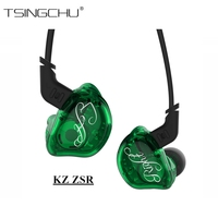 KZ ZSR Balanced Armature And Dynamic Hybrid Six Drivers In Ear Earphone HIFI Bass With Replaced