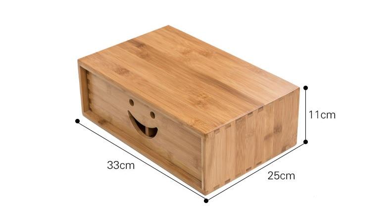 Смайл офисный компьютер бамбуковая стойка коврик Высокая Настольная подставка для хранения дисплей экран полка мульти коробка для хранения маленькая мебель - 5
