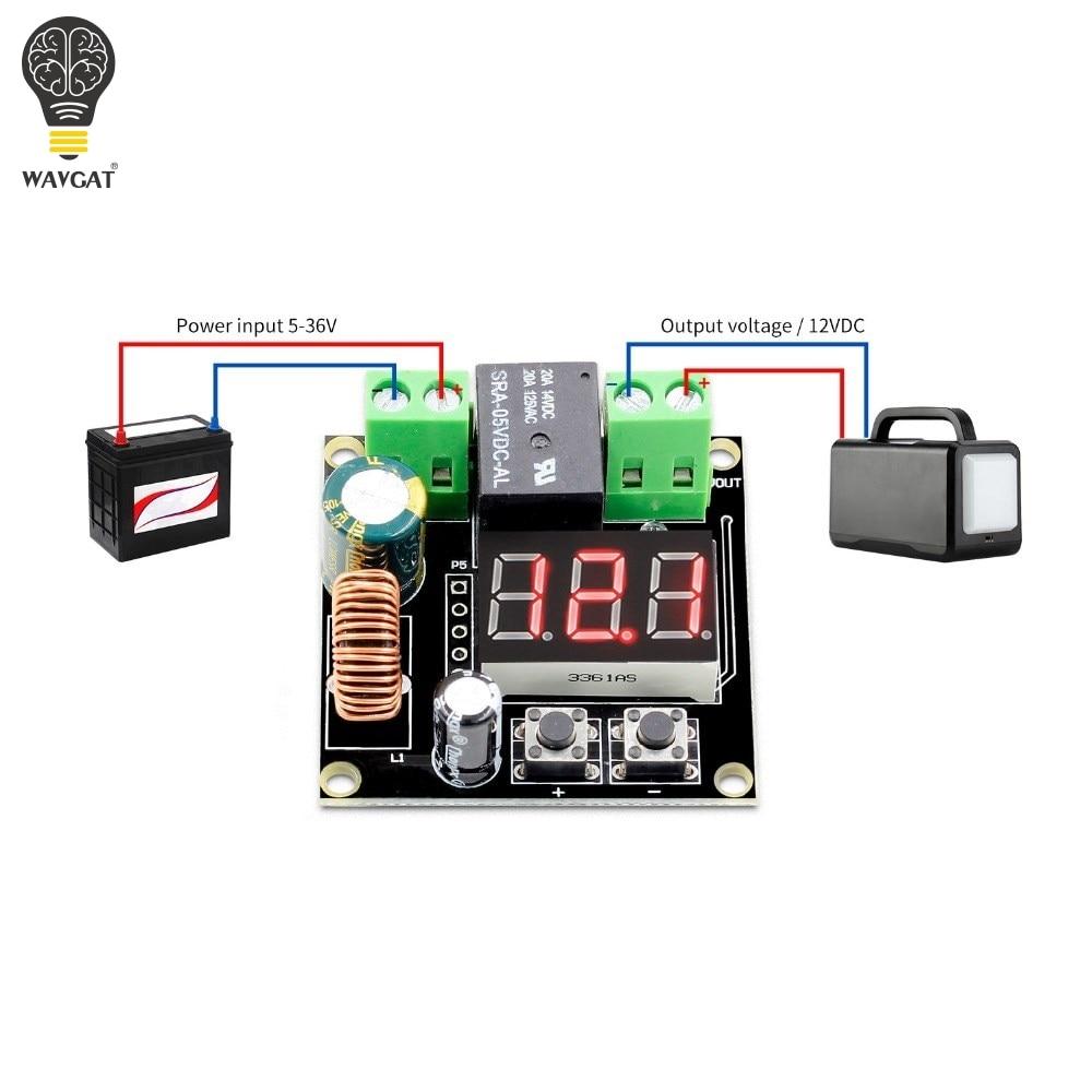 WAVGAT VHM-009 DC 12V-36V Voltage Protection Module Low Voltage Disconnect Protection Output 6-60V 6V-60V XH-M609