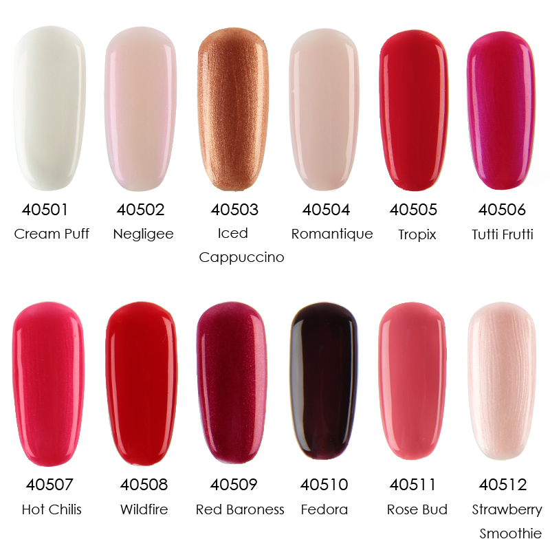 Crislish 4pcs(2 color gel+1 base gel+1 top coat) in new 47 color Gel ...
