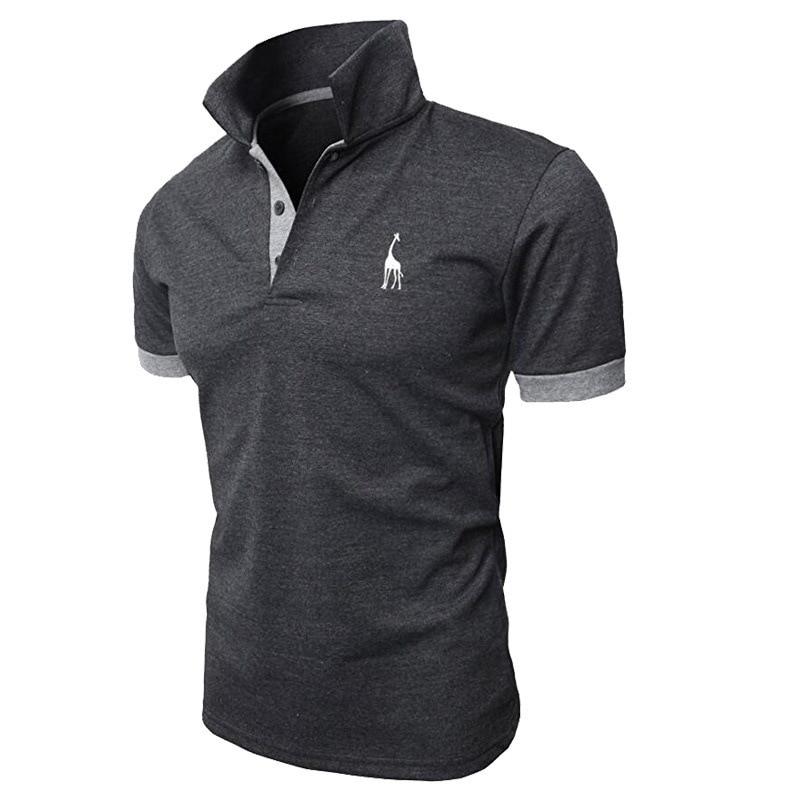New 2019 Fashion Summer T Shirt Men Short Sleeved Male Turndown Collar Casual Tshirt Colors T-Shirts Men Clothing MY105