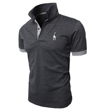 New 2019 Fashion Summer T Shirt Men Short Sleeved Male Turndown Collar Casual tshirt
