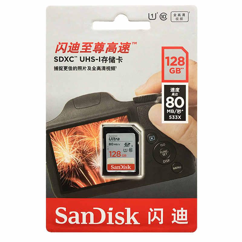 SanDisk Sd-kaart 16GB 32GB 64GB 128GB 256GB Geheugenkaart 80 MB/s U1 170 MB/s u3 V30 4K Voor Canon Nikon SLR Camera Schieten 4K Video