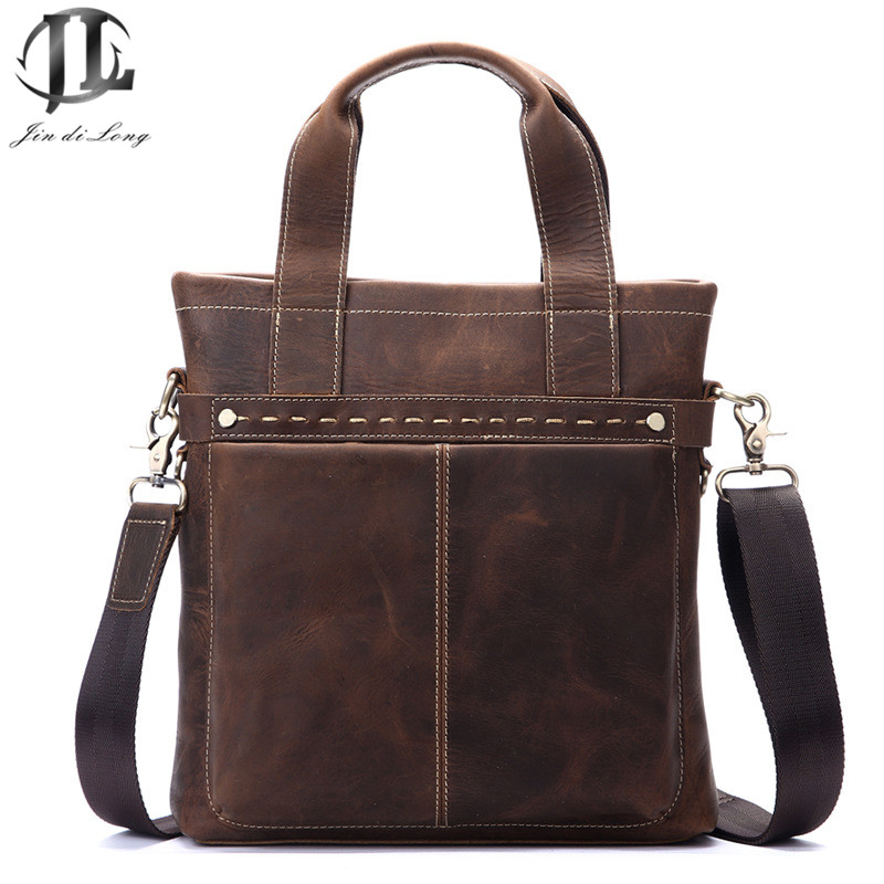 100% genuine leather men bag crazy horse leather men's handbag business shoulder bag briefcase messenger bag laptop Cowhide high quality genuine leather men bag crocodile leather men handbag business shoulder bag briefcase messenger bag cowhide 5017