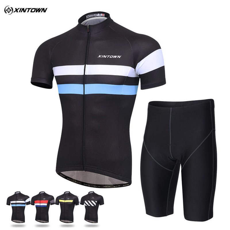 Cycling jersey XINTOWN summer men s short sleeved riding clothes suit male clothes riding bicycle clothing