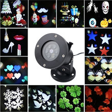 12 Types Stage Light Christmas Party Laser Snowflake Projector Outdoor LED Disco Light Equipment For Home Holiday Decoration(China)