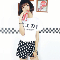 Kawaii Harajuku Style Summer Women T Shirt White Japanese Korean Girl T Shirt Woman Tee Vogue