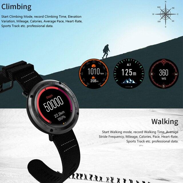 SENBONO L19 GPS Sport smart watch support fitness tracker Compass Height heart rate IP67 waterproof SMS Pushing 3