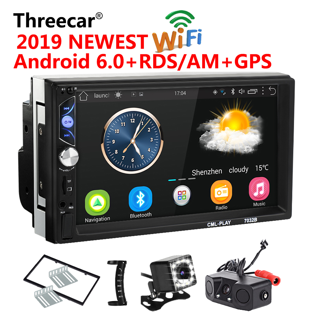 2 Din Android 6 0 Car radio Universal 7 inch HD RDS AM GPS Navigation Wifi