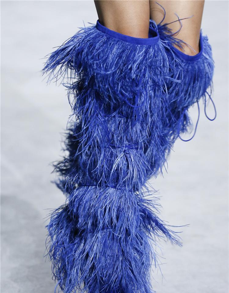 Botas Borlas Rodilla Encima La De negro Eunice Choo Punta Rebaño Por Mujer Pista Vestido Spike Zapatos Heels azul Sexy Beige xqtwFB