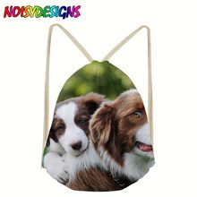 Backpack Drawstring 3D Border Collie Printing Bags Bag Travel Women daily Casual Mochila Feminina Gift pouch