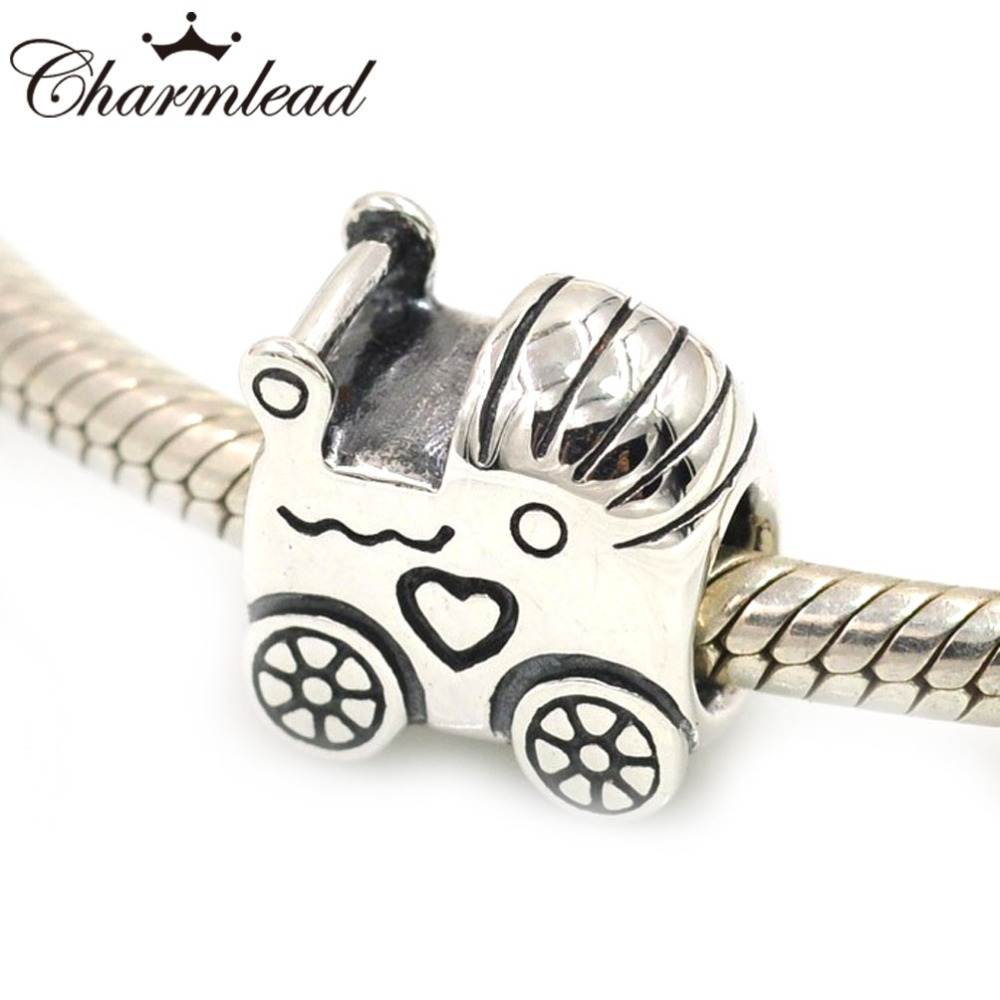 Charmlead Baby Carriage Charm Children Authentic 925