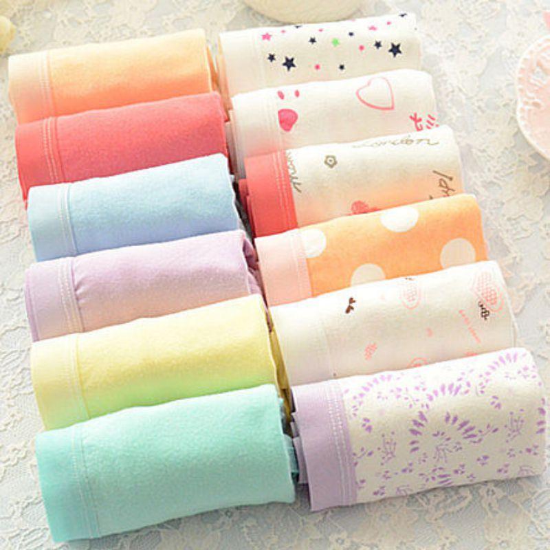 Women  Cotton Underwear Soft Panties Pink Large Code Women's Panties Briefs Plus Size M-XXXL