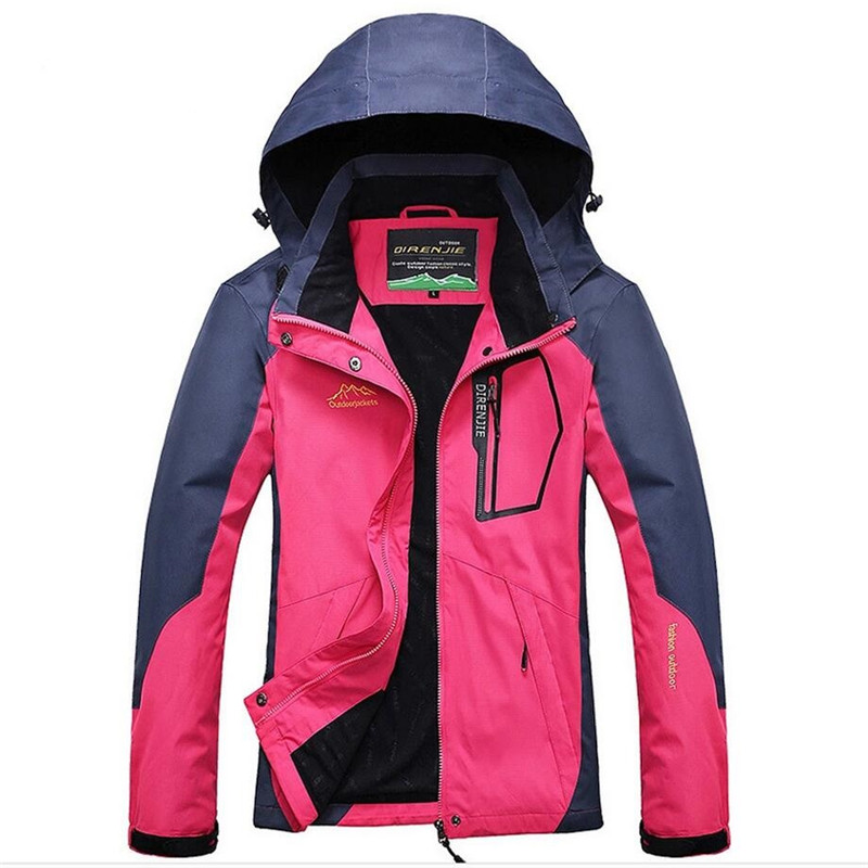 New Women Soft Shell Waterproof Jacket Thermal Polar Outwear Women Coats Fashion Windbreaker Windproof Tourism Mountain Jacket