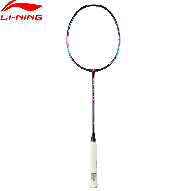 Li-Ning New 2018 WINDSTORM 72 Badminton Rackets Single Racket Light Professional Carbon Fiber Li Ning Rackets AYPM204 li ning professional badminton rackets carbon offensive type brazil 2016 single racket aypl102 zyf113