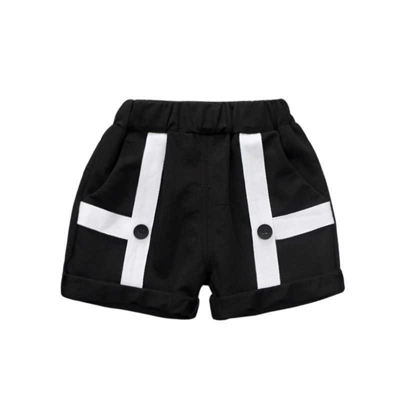 BibiCola 2018 Erkek yazlık pantolonlar Çocuk Moda Pamuklu Erkek Giysileri Bebek moda pantolon siyah Renk Spor Pantolon 0-4 yaş