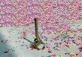 1 peças/lote 150 w de Alta qualidade quente-venda flâmulas canhões de Confete Confetti máquina para stage capina