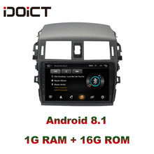 IDOICT Android 8.1 Car DVD Player GPS Navigation Multimedia For Toyota Corolla Radio 2008-2013 car stereo Bluetooth idoict android 8 1 car dvd player gps navigation multimedia for honda crv radio 2008 2009 2010 2011 car stereo