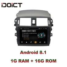 IDOICT Android 8.1 Car DVD Player GPS Navigation Multimedia For Toyota Corolla Radio 2008-2013 car stereo Bluetooth цена и фото