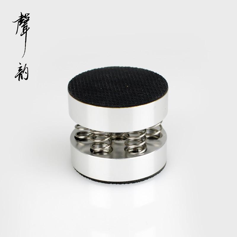 4pcs audio power amplifier loudspeaker shock absorbing feet with spring pad