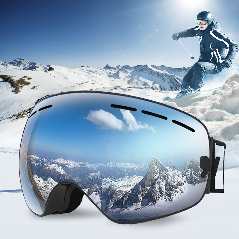 Ski Goggles Mask Adjustable Snowboard Goggles With Anti-fog UV Protection Winter Snow Sports For Unisex Men Women Youth