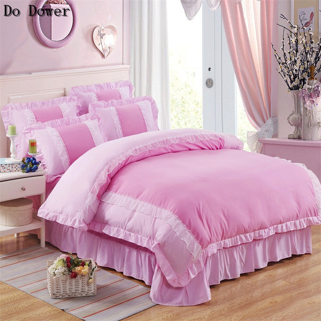 Princess Lace Bed Skirt Lace Bed Sheets Princess Lace Bed Sheets Pillowcase  Quilt Bedding Sets 4pcs