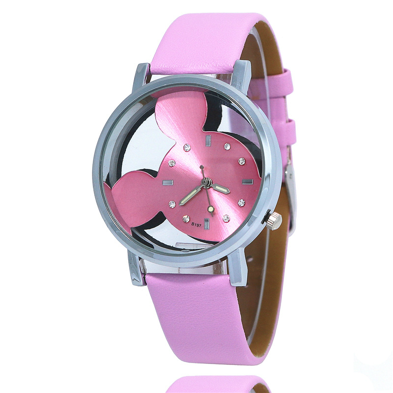 New Product Launch Mickey Children's Watch Transparent Hollow Cute Minnie Dial Kids Watches Girls Boys Clock Quartz Child Watch