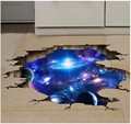 4 style 3D Outer Space Planet Wall Stickers for kids room floor Galaxy Stickers muraux muursticker vinyl wall decals poster