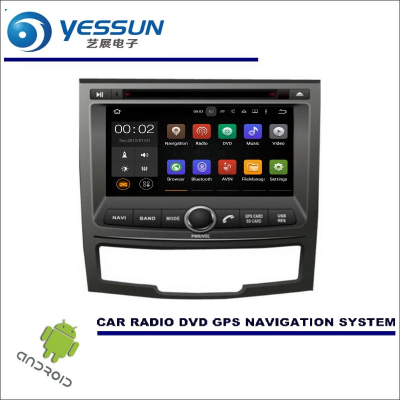 YESSUN Car Multimedia Navigation System For SsangYong Korando 2010~2014 CD DVD GPS Player Navi Radio Stereo BT Wince / Android image