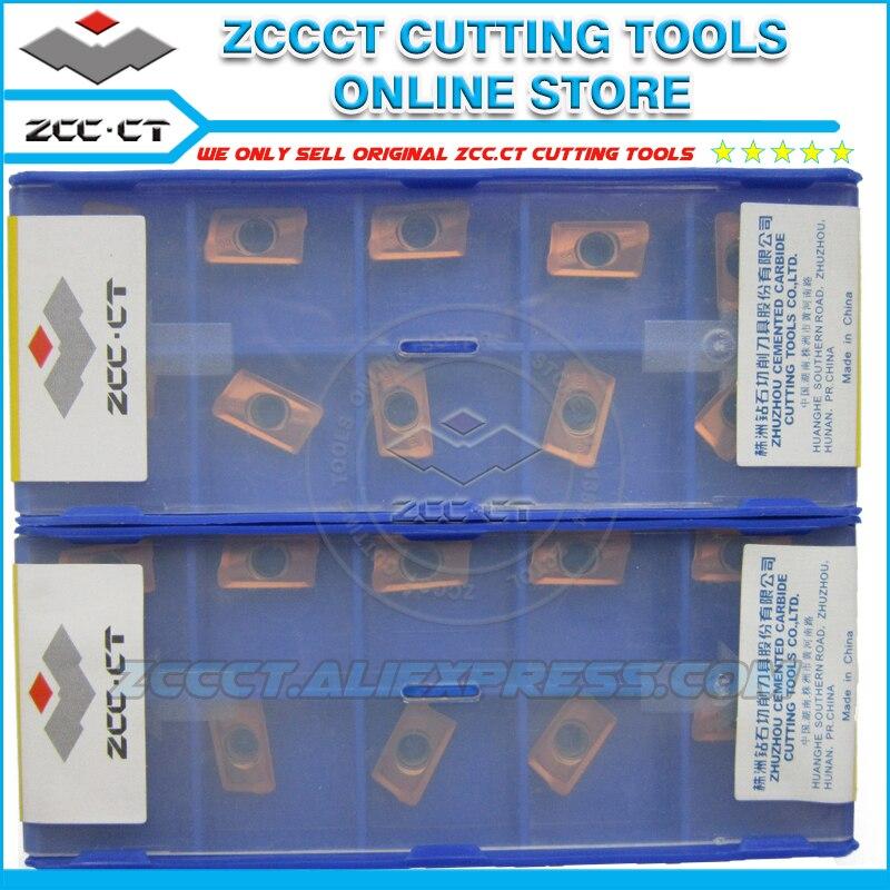 10pcs ZCC tools milling cutter APKT11T308 APM YB9320 apkt11t308 mill cutting tool inserts for medium cut